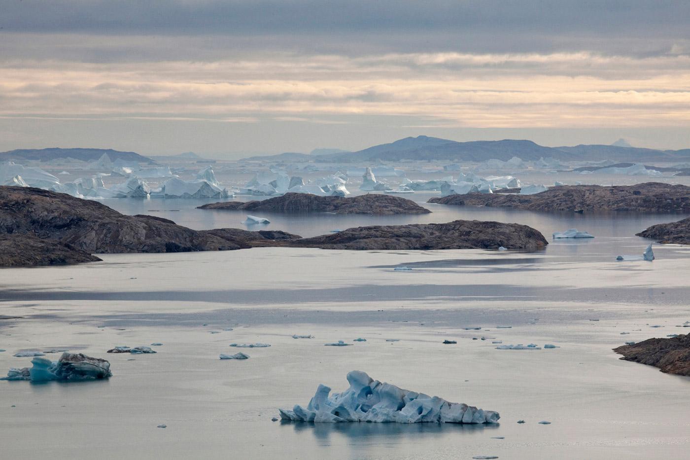 Icebergs around Isortoq 1