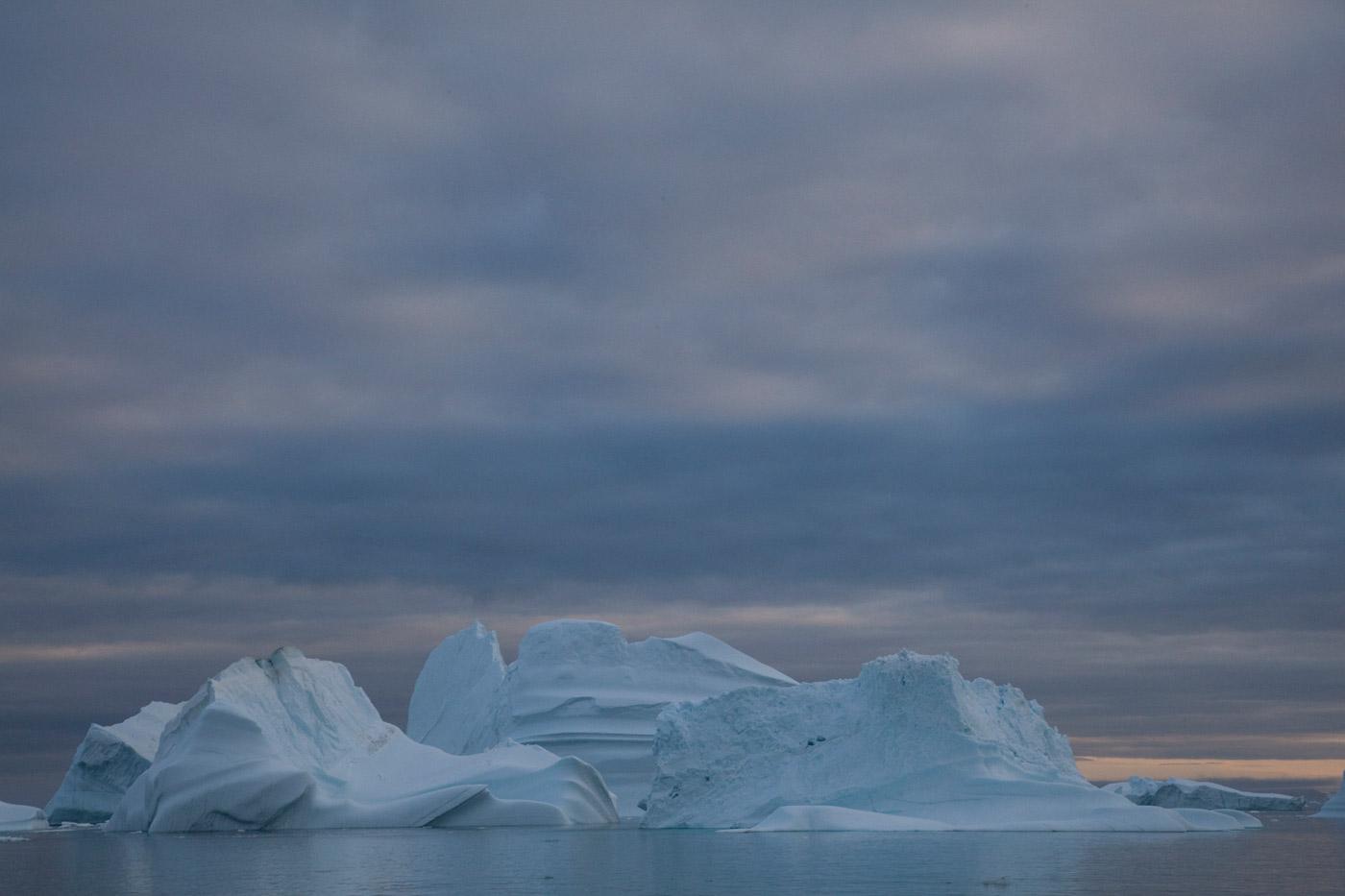 Icebergs around Isortoq 4