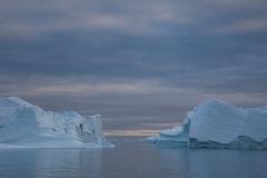Icebergs around Isortoq 3