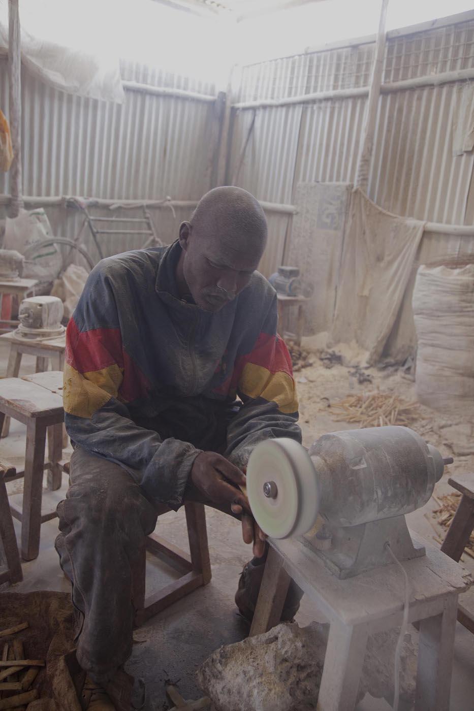 Polishing Camel Bones