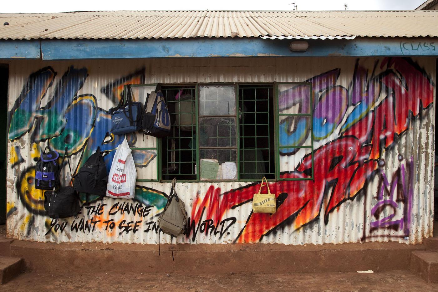 Streetart Workshop at a School