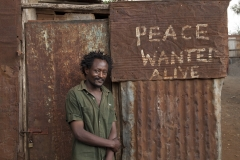 Solo7 - the Artist starting 'Peace Wanted Alive'